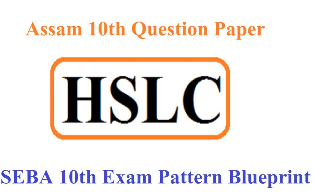 Assam 10th Question Paper 2021 SEBA HSLC Exam Pattern 2021 Blueprint PDF